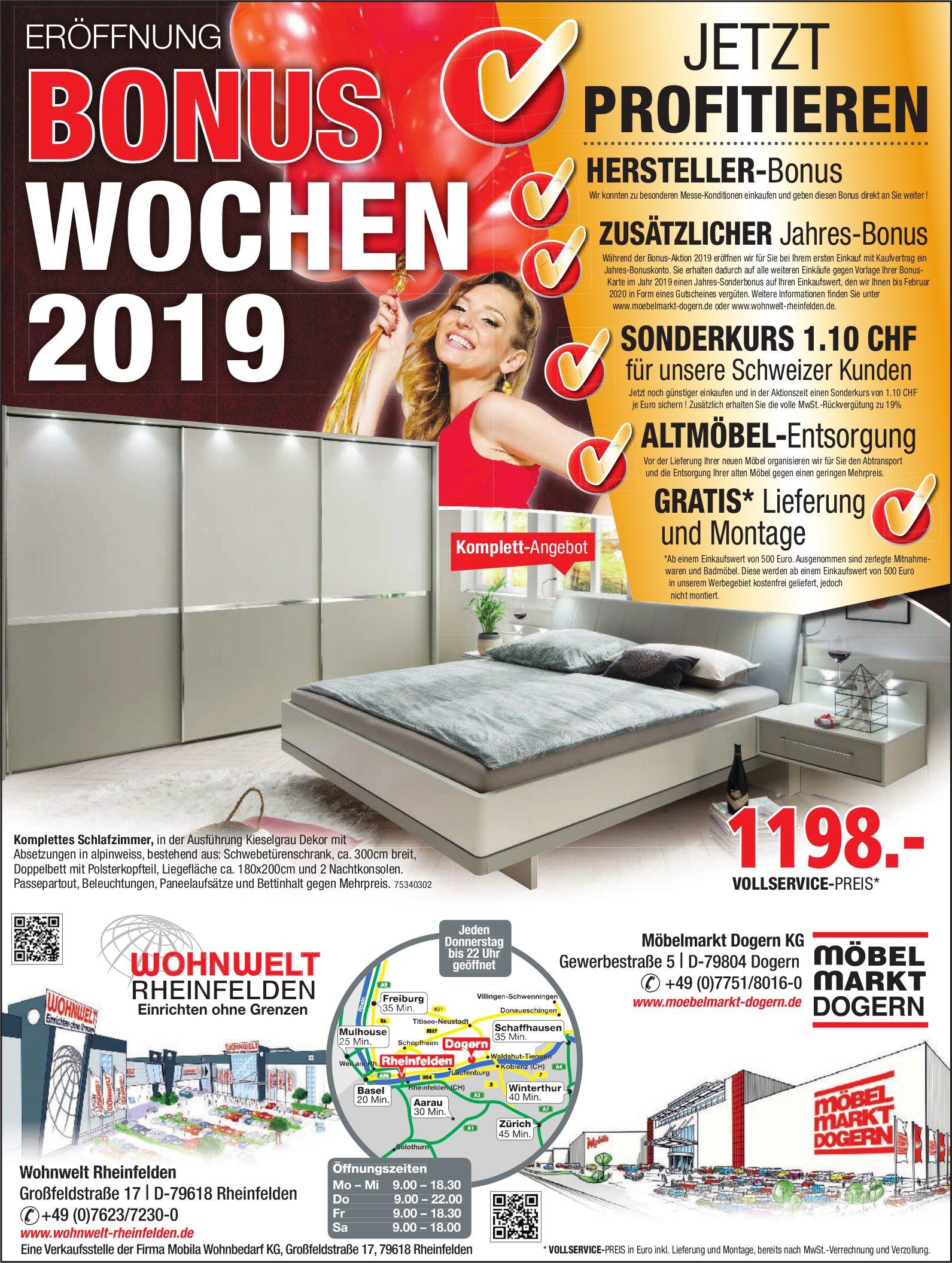 Wohnwelt Rheinfelden Möbelmarkt Dogern Kg Eröffnung Bonus Wochen 2019