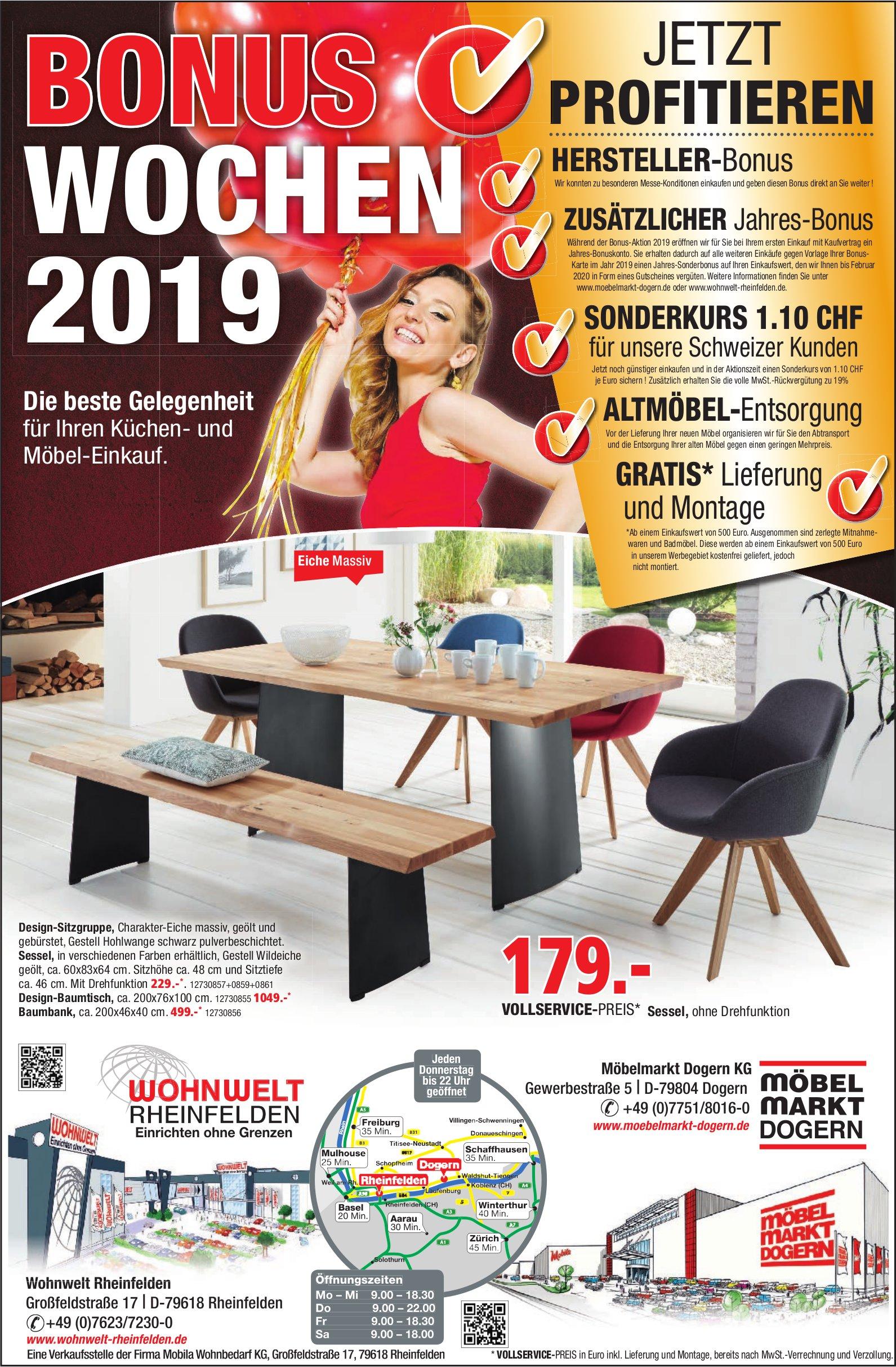 Wohnwelt Rheinfelden Möbelmarkt Dogern Kg Bonus Wochen 2019