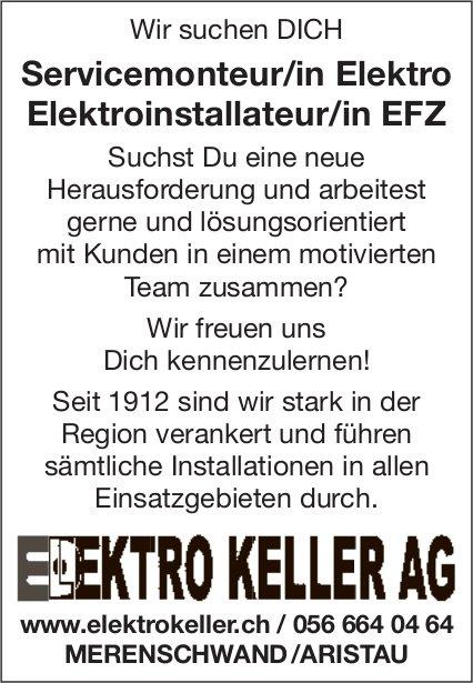 Servicemonteur/in / Elektro Elektroinstallateur/in EFZ bei Elektro Keller AG gesucht