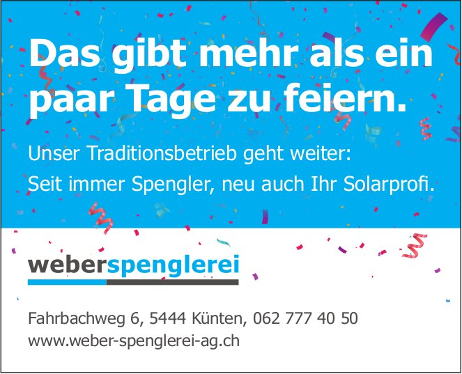 Weber Spenglerei in Künten