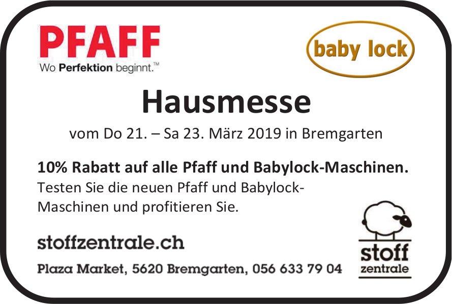 Stoff Zentrale - Hausmesse vom Do 21. — Sa 23. März in Bremgarten