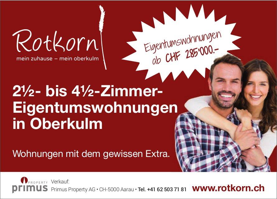 2½- bis 4½-Zimmer- Eigentumswohnungen in Oberkulm zu verkaufen