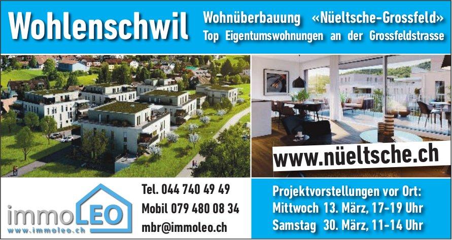 Wohnüberbauung «Nüeltsche-Grossfeld» Eigentumswohnungen in Wohlenschwil zu verkaufen