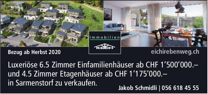 6.5 Zimmer EFH in Sarmenstorf zu verkaufen