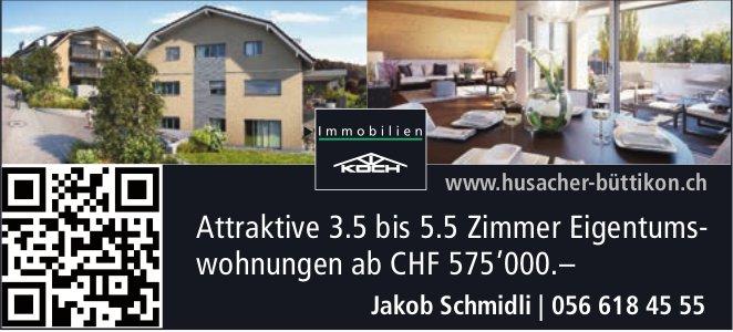 Attraktive 3.5 bis 5.5 Zimmer Eigentumswohnungen in Büttikon zu verkaufen