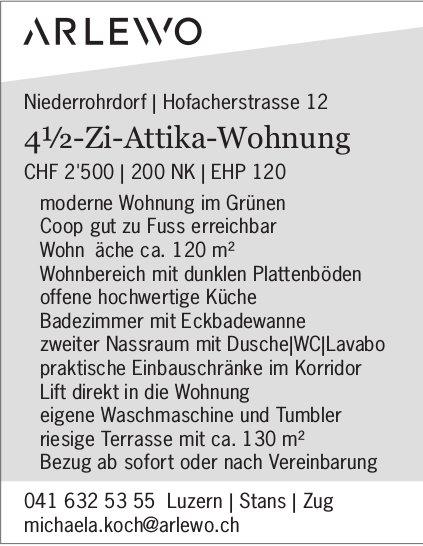4.5-Zi-Attika-Wohnung in Niederrohrdorf zu vermieten