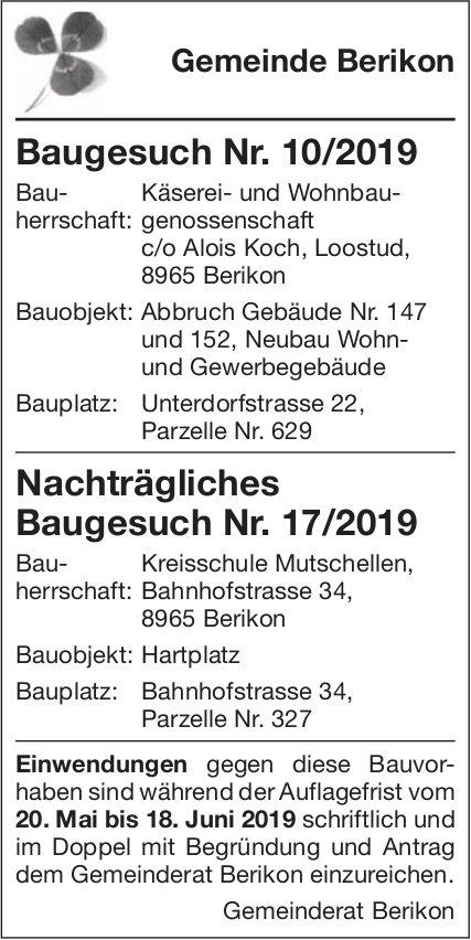 Gemeinde Berikon - Baugesuche