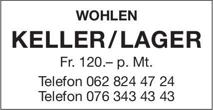 Keller/Lager in Wohlen zu vermieten