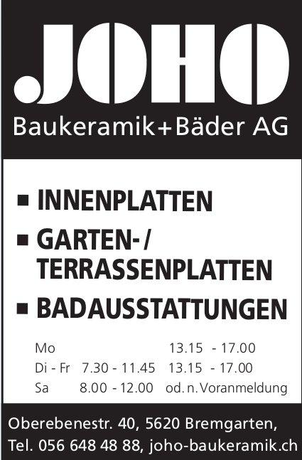 Joho Baukeramik + Bäder AG in Bremgarten