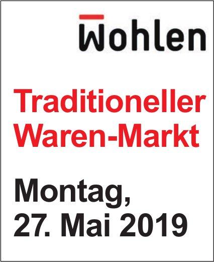 Traditioneller Waren-Mark am 27. Mai in Wohlen