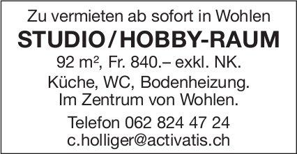 Studio/Hobby-Raum ab sofort in Wohlen zu vermieten