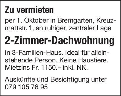 2-Zimmer-Dachwohnung in Bremgarten zu vermieten