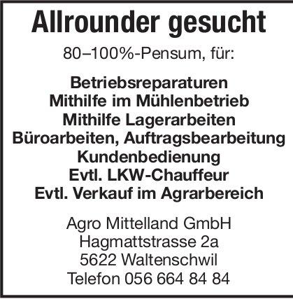 Agro Mittelland GmbH sucht: Allrounder 80-100%