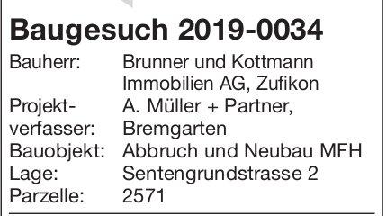 Bremgarten:Baugesuch 2019-0034