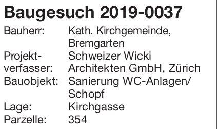 Bremgarten: Baugesuch 2019-0037