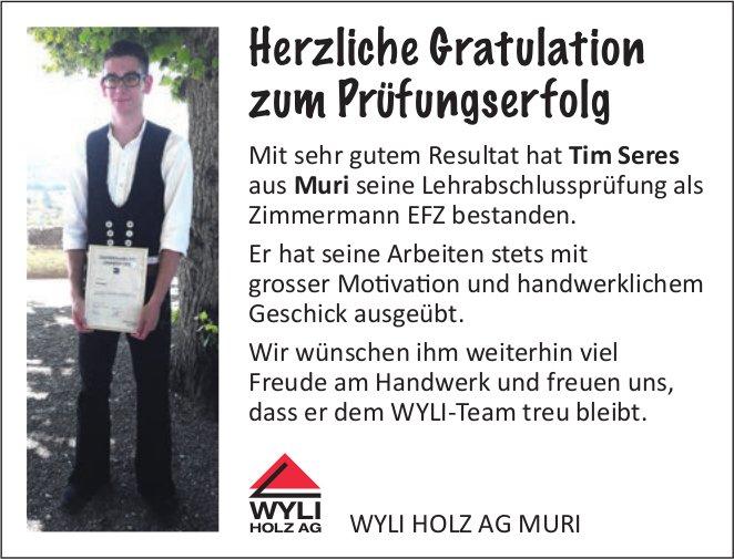 Prüfungserfolge Wyli Holz AG Muri