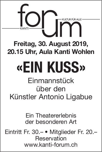 """""""Ein Kuss"""" - Theaterstück am 30. August in Wohlen"""