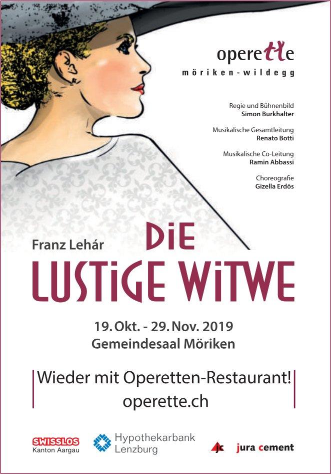 """""""Die lustige Witwe"""" vom 19. Oktober bis 29. November in Möriken"""
