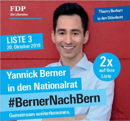 Yannick Berner in den Nationalrat