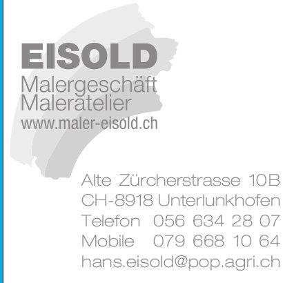 Eisold Malergeschäft in Unterlunkhofen