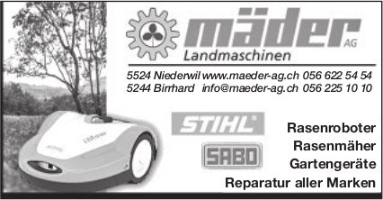 Mäder Landmaschinen in Niederwil