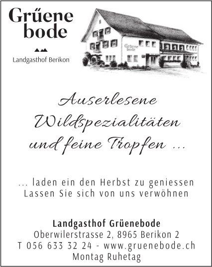 Landgasthof Grüenbode in Berikon