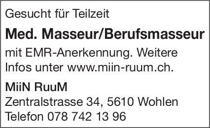 Med. Masseur/Berufsmasseur gesucht