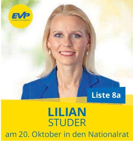 Lilian Studer in den Nationalrat