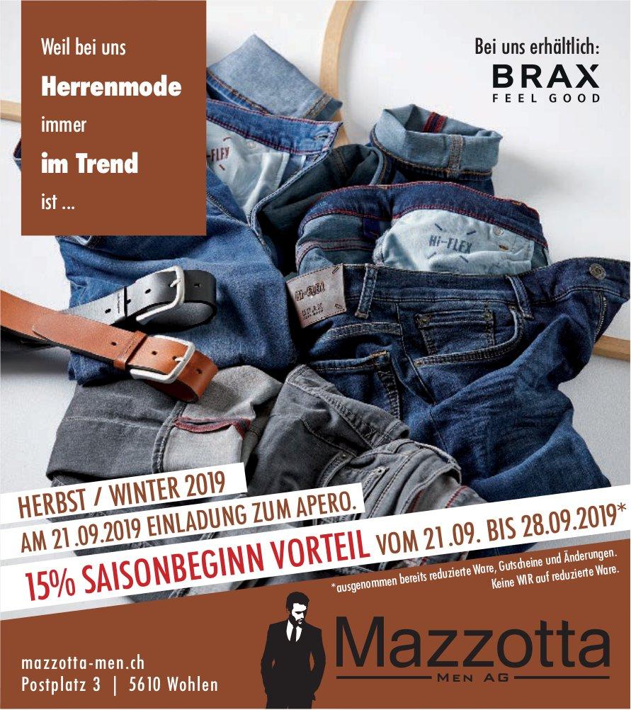 Mazzotta Men AG in Wohlen - Herrenmode