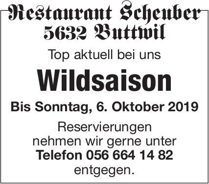 Wildsaison im Restaurant Scheuber