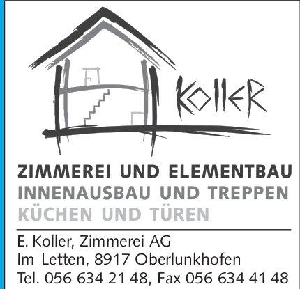 Koller Zimmerei AG in Oberlunkhofen