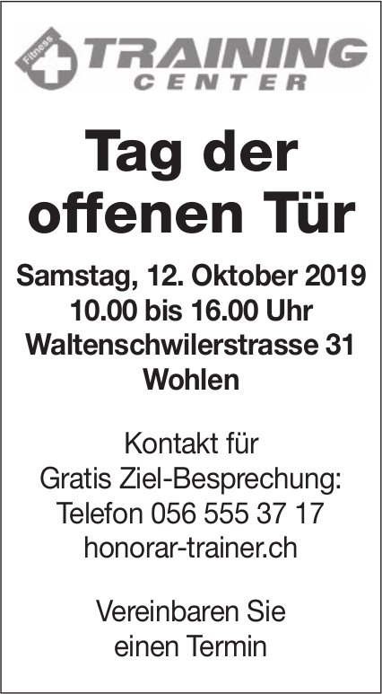 Training Center Wohlen - Tag der offenen Tür am 12. Oktober