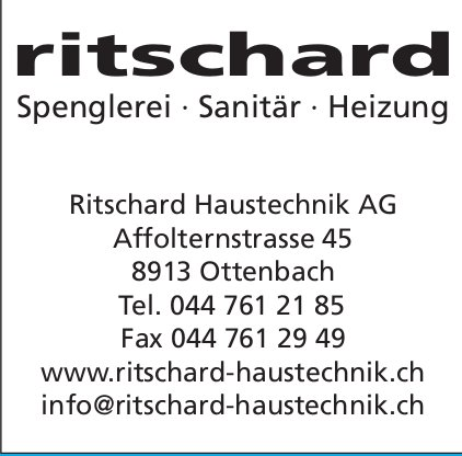 Ritschard Haustechnik AG in Ottenbach