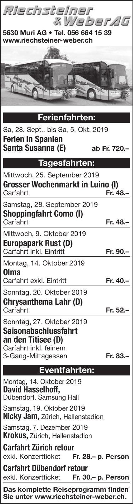 Riechsteiner & Weber AG Ferienreisen