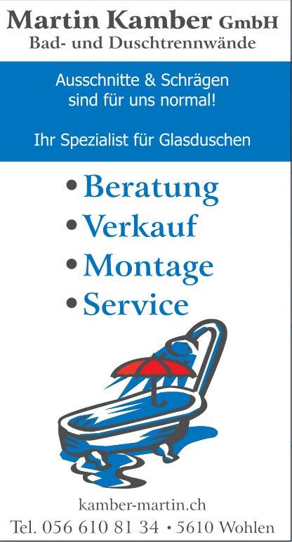 Martin Kamber GmbH Bad- und Duschtrennwände