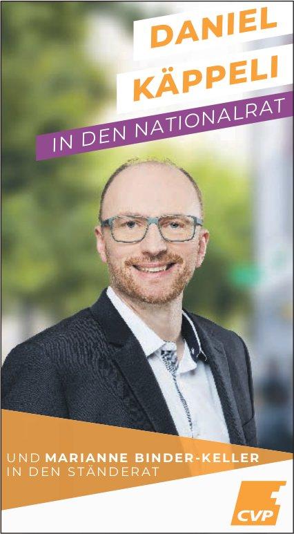 Daniel Käppeli in den Nationalrat