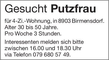 Putzfrau gesucht in Birmensdorf