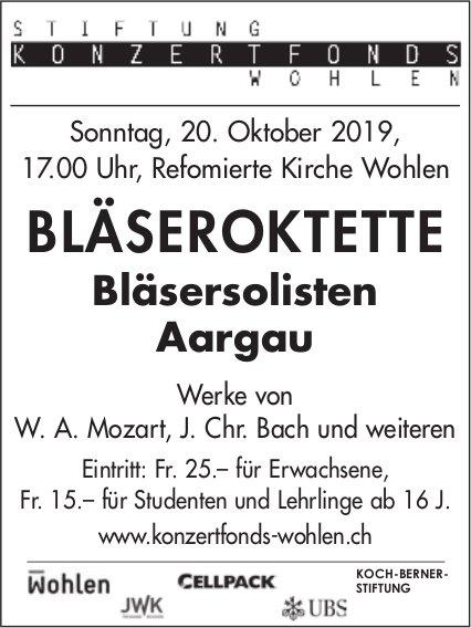 Bläsersolisten Aargau - Konzert am 20. Oktober in Wohlen