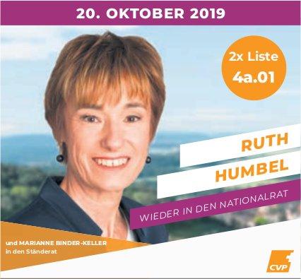 Ruth Humbel in den Nationalrat