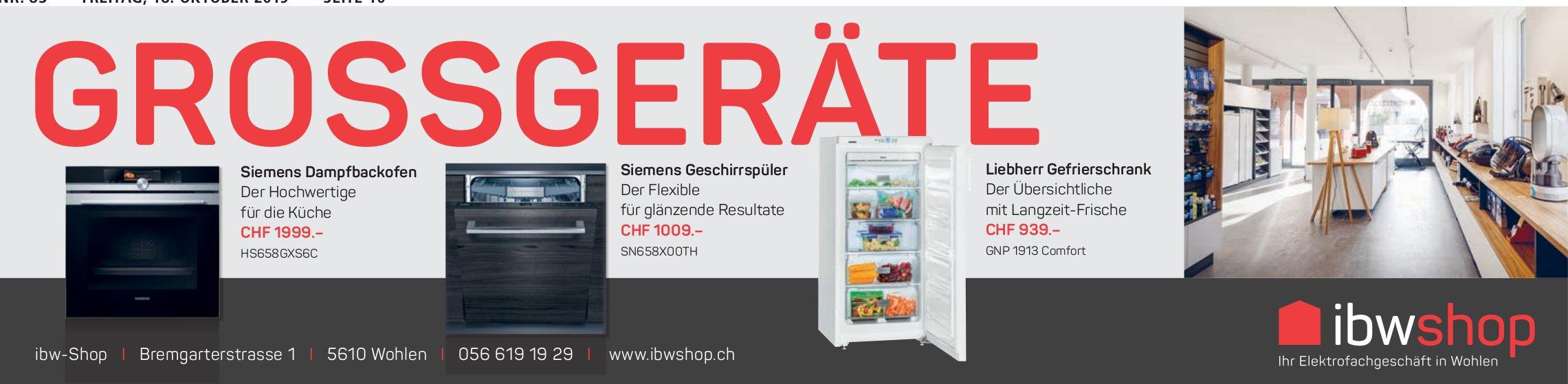 IbwShop Grossgeräte