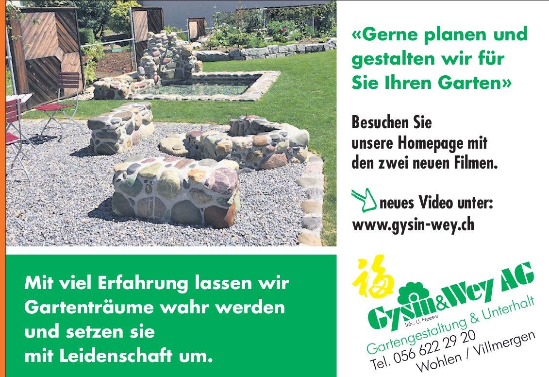 Gysin & Wey AG Gartengestaltung & Unterhalt in Wohlen