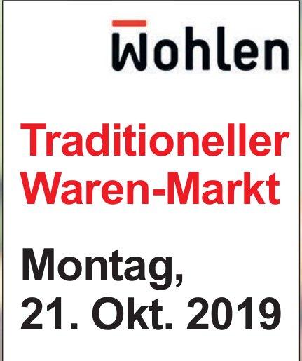 Traditioneller Waren-Markt in Wohlen am 21. Oktober