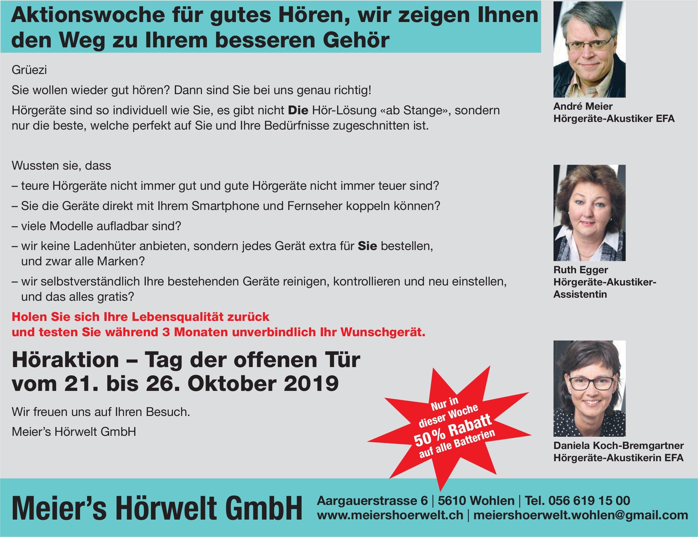 Meier's Hörwelt GmbH in Wohlen