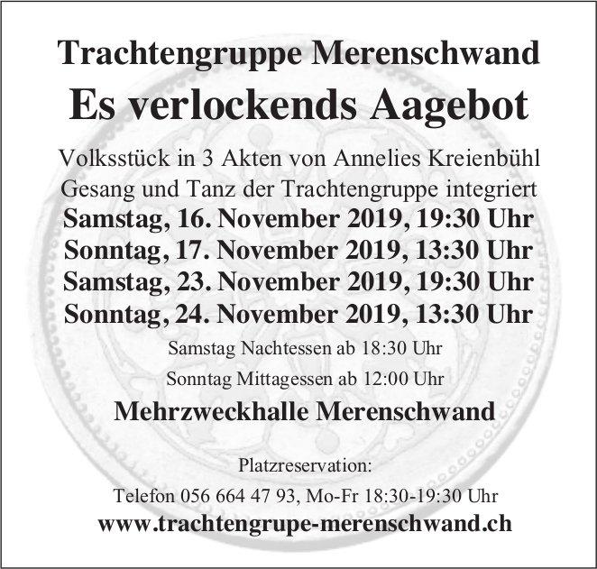"""""""Es verlockends Aagebot"""" - Theater in Merenschwand"""