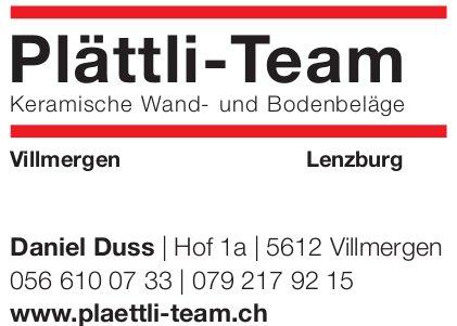 Plättli-Team Daniel Duss