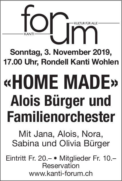 Alois Bürger und Familienorchester - Konzert am 3. November