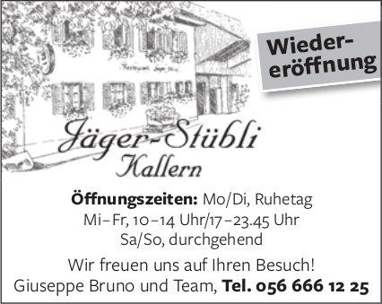 Jäger-Stübli in Kallern - Wiedereröffnung