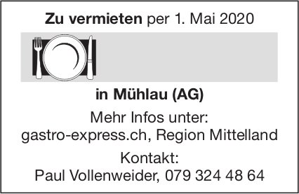 Restaurant zu vermieten in Mühlau