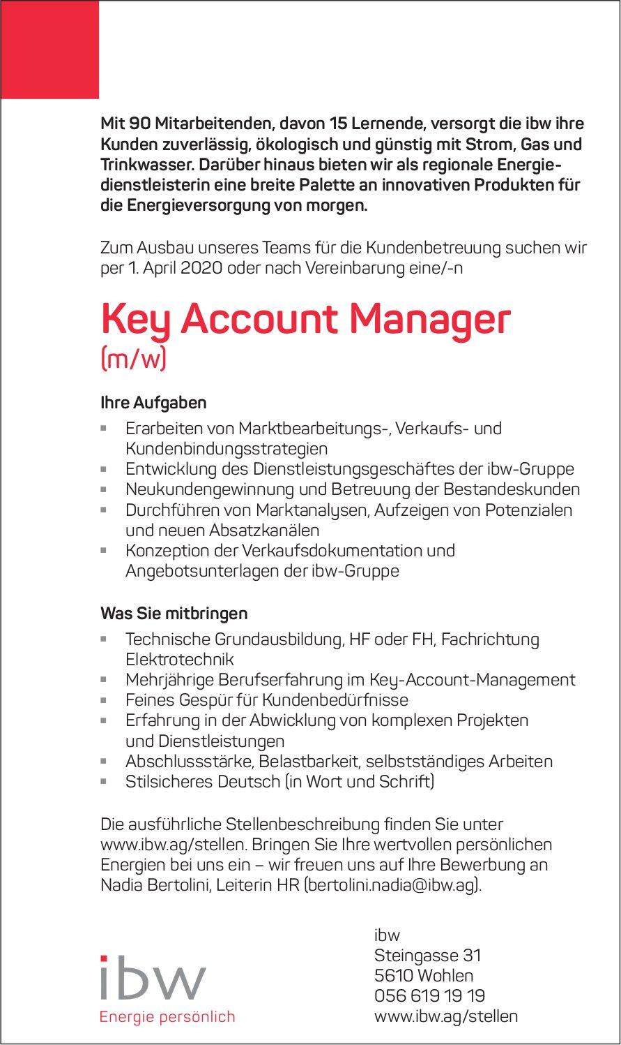Key Account Manager (m/w) gesucht