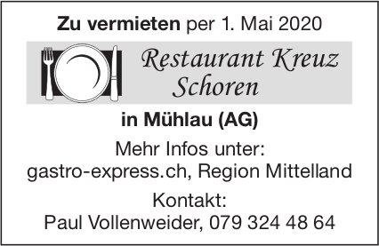 Restaurant Kreuz Schoren zu vermieten